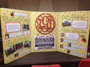 Amazing tri-fold that Alpha Gams made!