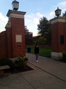"The famous ""gates"" to campus!"