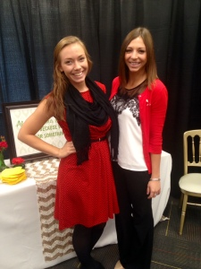 Taylor and I during interview weekend!