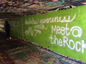 One of the tunnels we painted on campus!