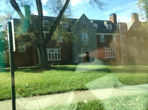 Huge SAE house from the car window!
