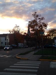 Amazing view on my walk around campus!