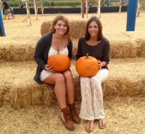 Sisterhood event at the pumpkin patch!