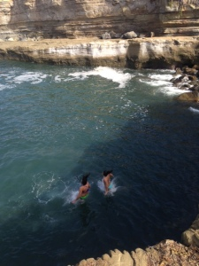 Brisk November swim