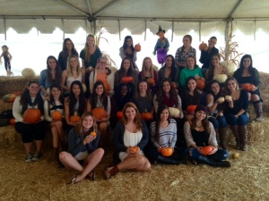 Some of the members at the pumpkin patch!