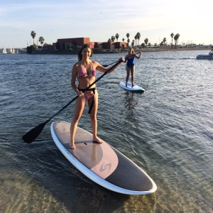 First time paddle boarding!